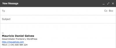 Firma HTML en Email