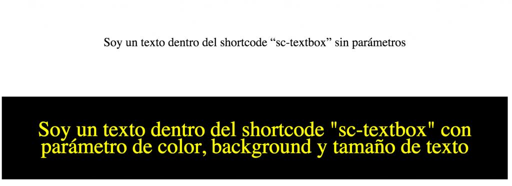 shortcode con cambios