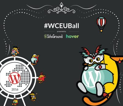 wordcamp europe vienna 2016 wceuball after party flyer