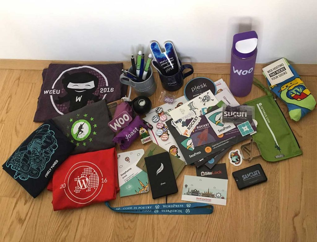 wordcamp europe 2016 swag