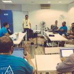 Luis Rull dando inaugurando el Contributor Day de la WordCamp Sevilla 2016
