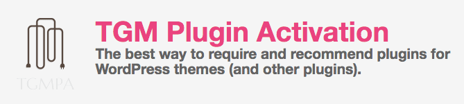 TGM Plugin Activation PHP Library