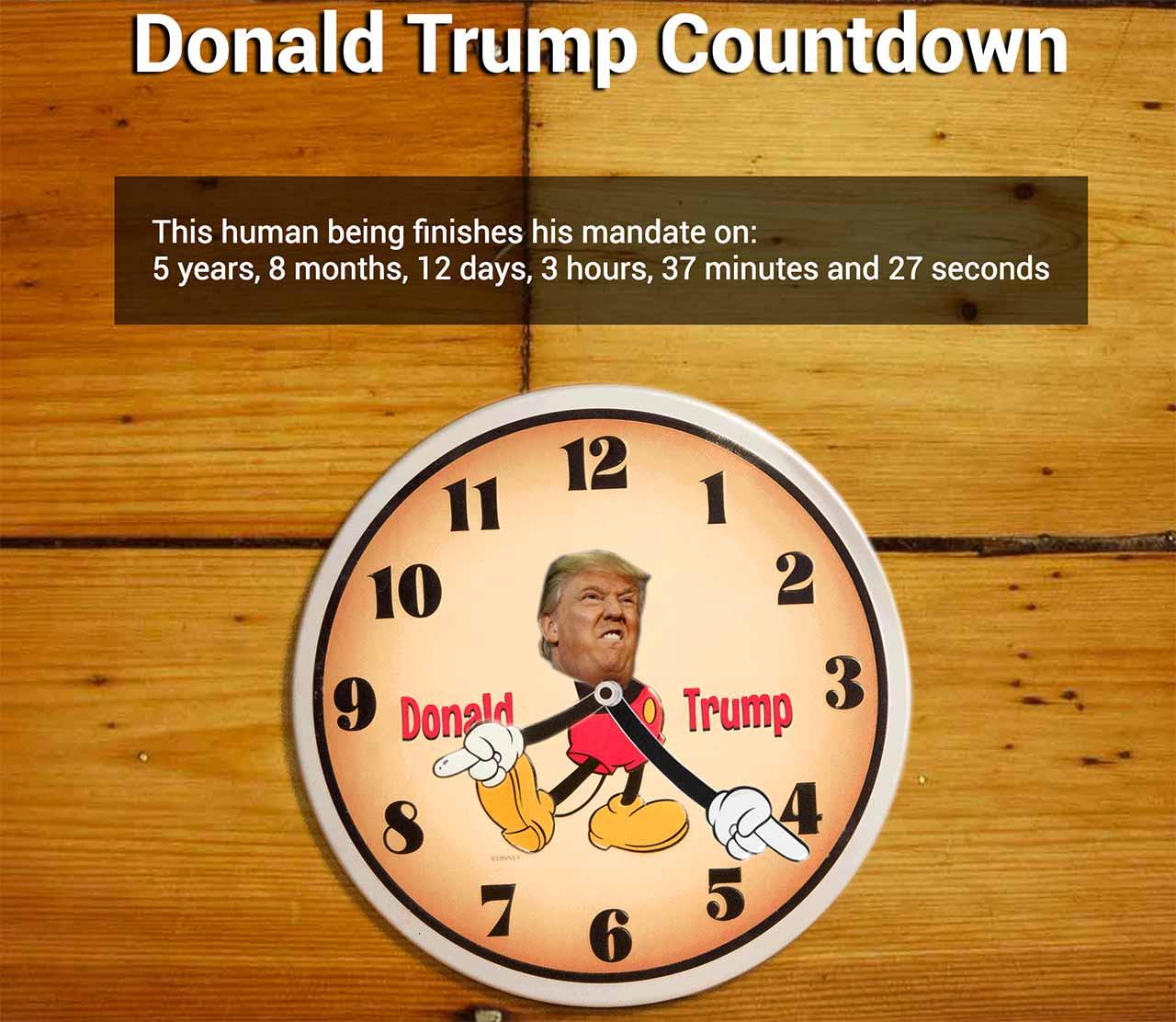 donald trump countdown