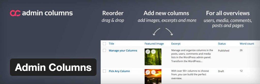 admin columns plugin wordpress