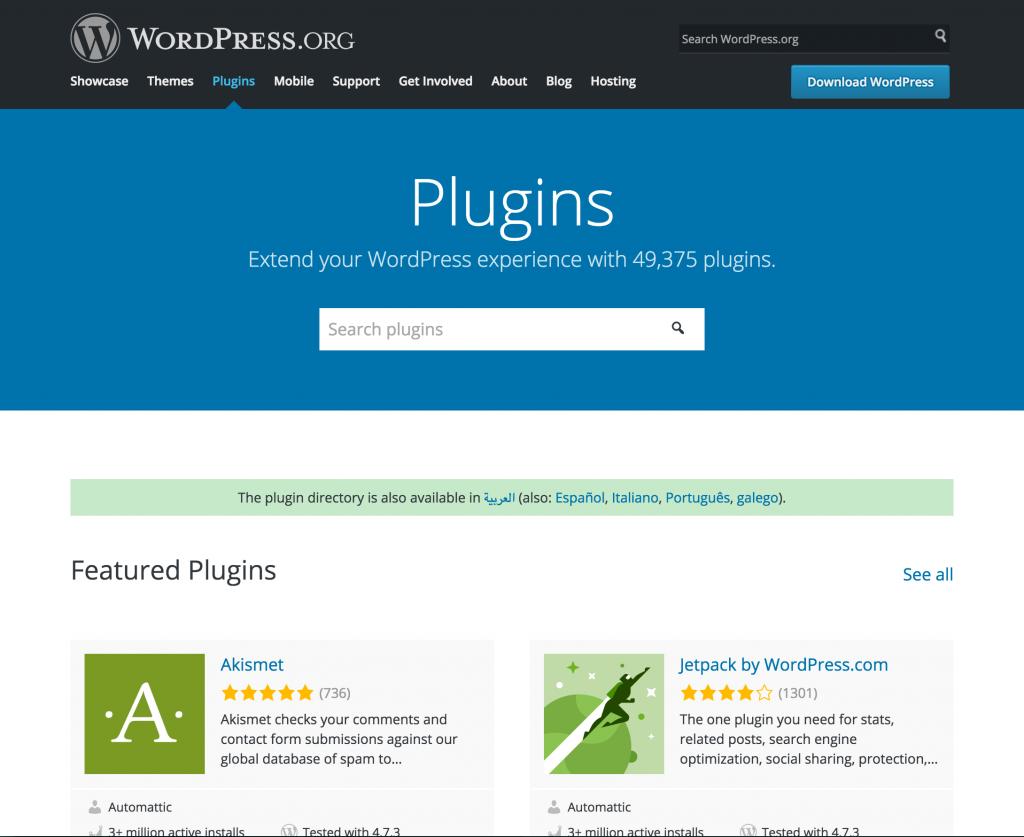 directorio de plugins