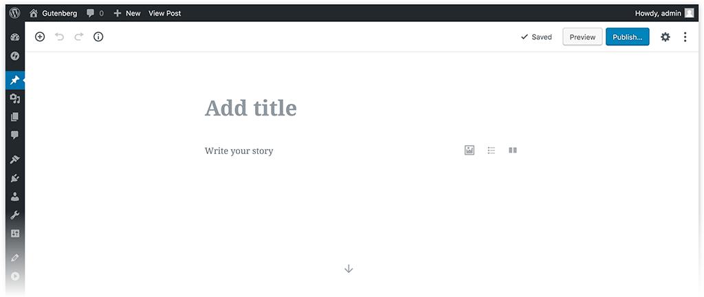 Gutenberg el nuevo editor de WordPress