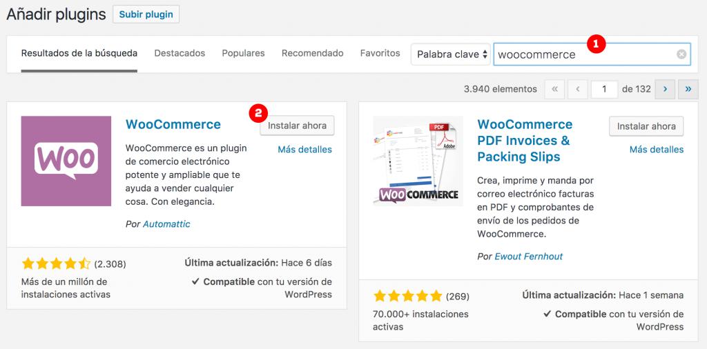 Cómo instalar WooCommerce de forma automática