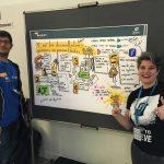 Natalia Díaz y Carlos Bravo en la WordCamp Madrid 2017