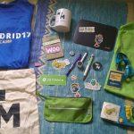 Swag de la WordCamp Madrid 2017