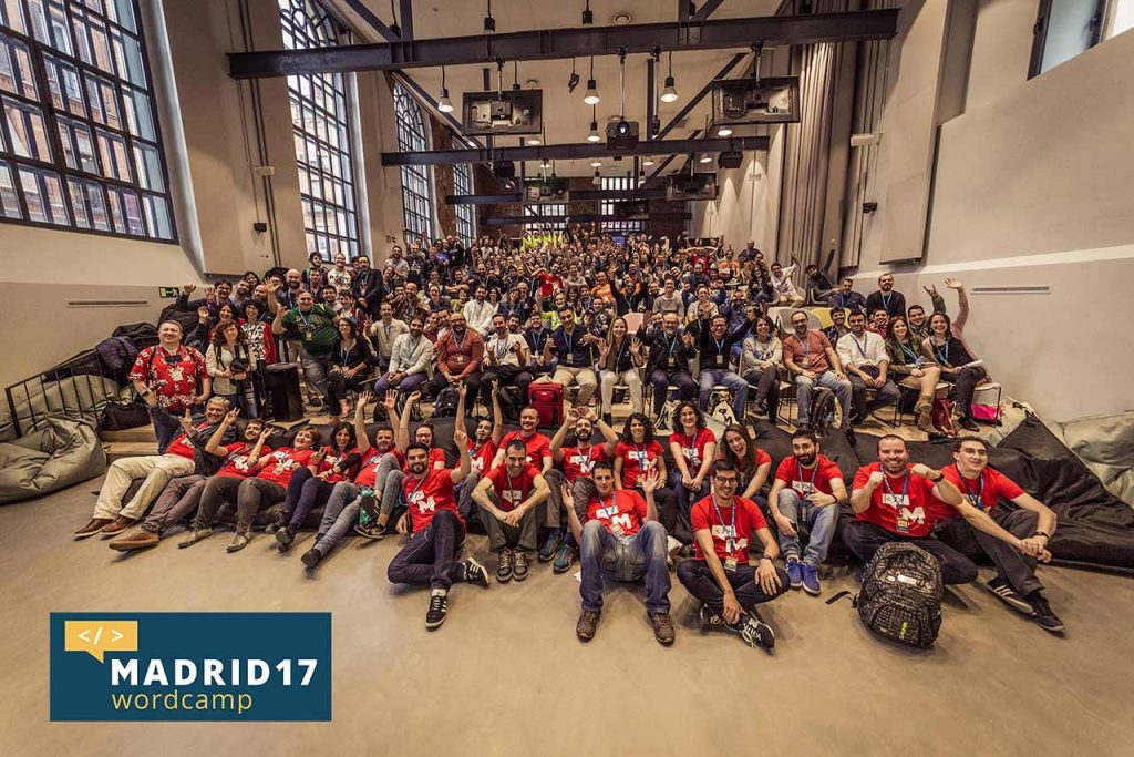 Foto general de la WordCamp Madrid 2017