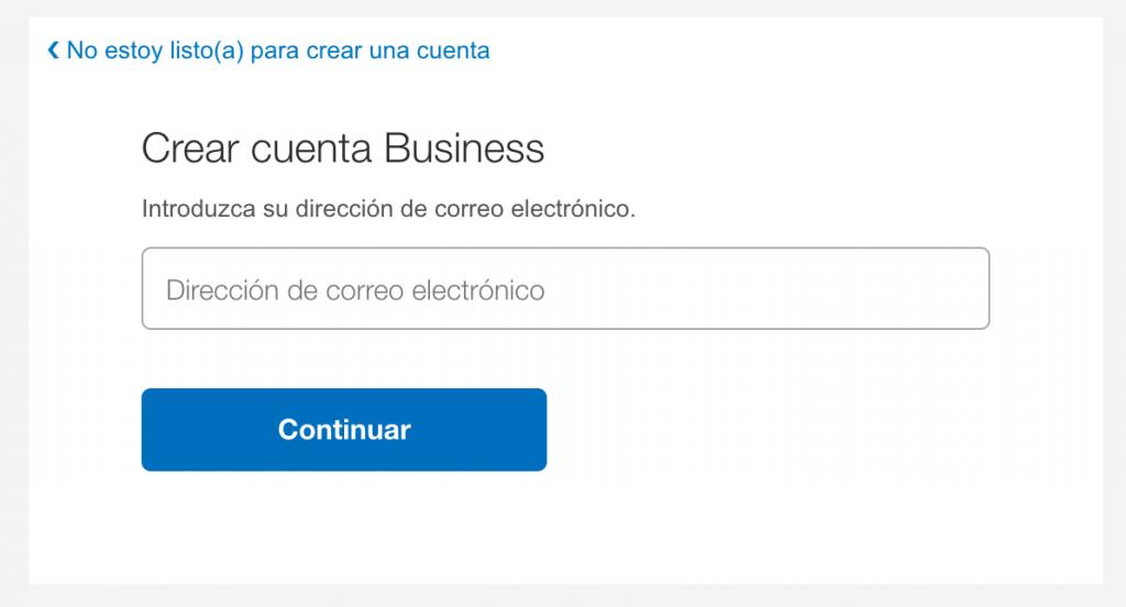 Especificar un email para la cuenta business de PayPal
