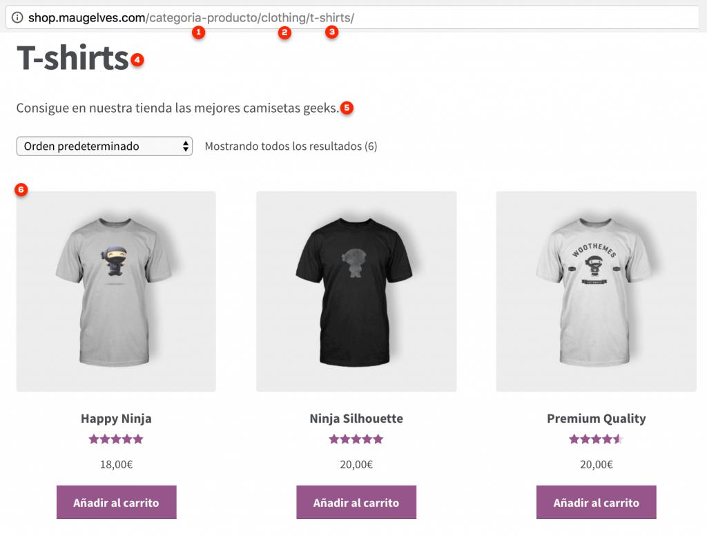 Frontend de listado de productos por categoría de WooCommerce