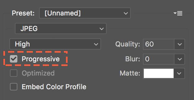 jpg progresivo opción de photoshop