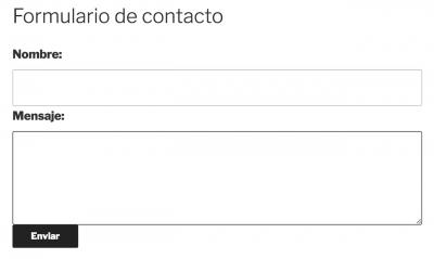 Ejemplo de formulario de contacto