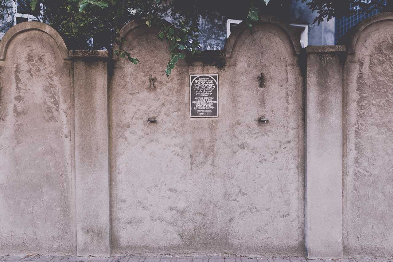 restos muro gueto barrio judio cracovia polonia