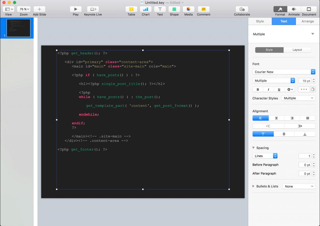 highlight demo código