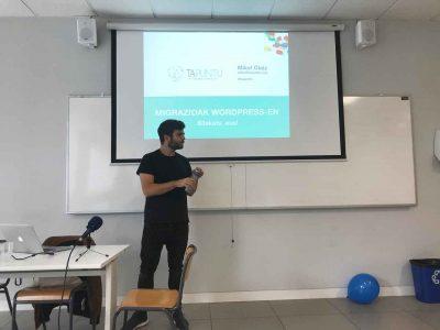 Mikel Olaiz Garmendia WordCamp Irun 2018