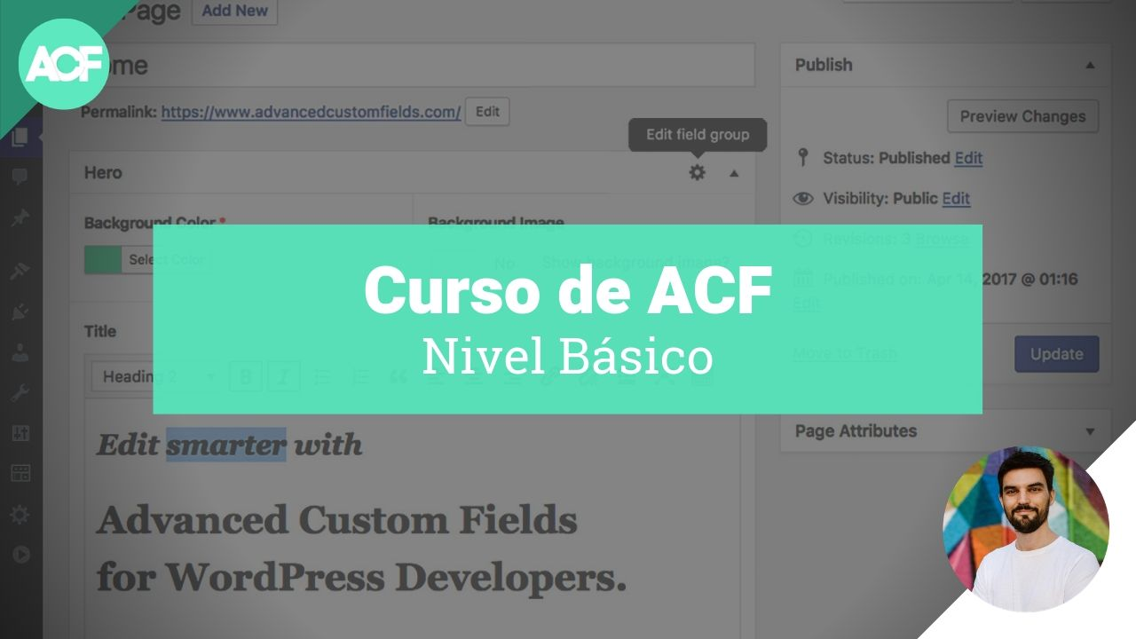 Curso de ACF básico - Advanced Custom Fields