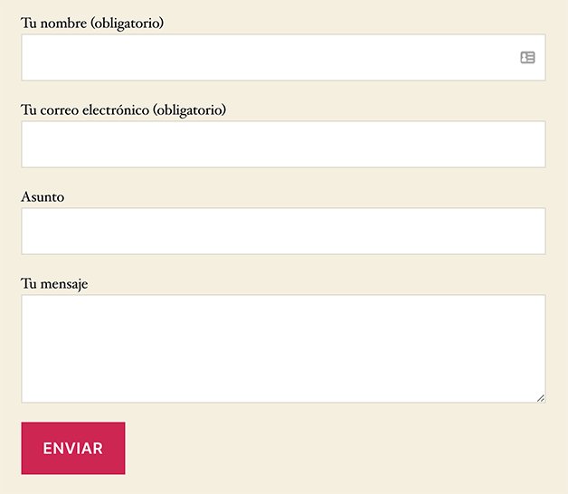 Formulario básico de Contact Form 7